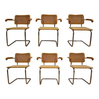 Marcel Breuer Mid-Century Cesca Dining Chairs - Set of 6
