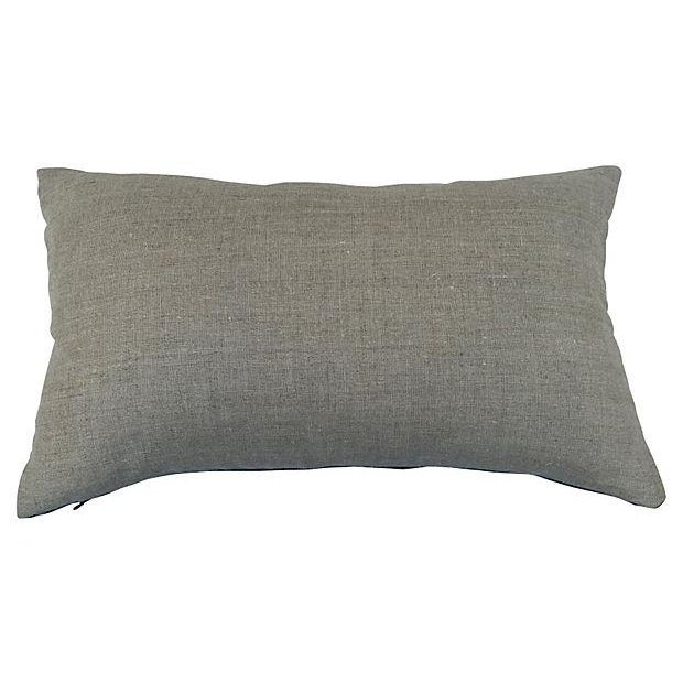 African Indigo Striped Pillows - a Pair - Image 2 of 5