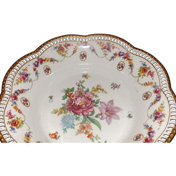 19th C. Hand Painted Porcelain Compote - Image 4 of 5