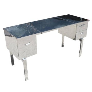 Polished Aluminium WWII Campaign Desk