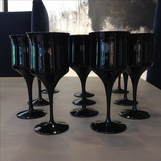 Onyx Stem Goblets - Set of 11 - Image 2 of 5