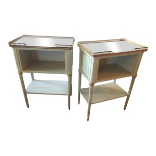 Paint Decorated End Tables - A Pair