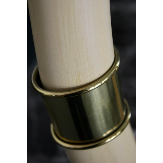 Brass Mounted Faux Tusks by Chapman - Image 10 of 11