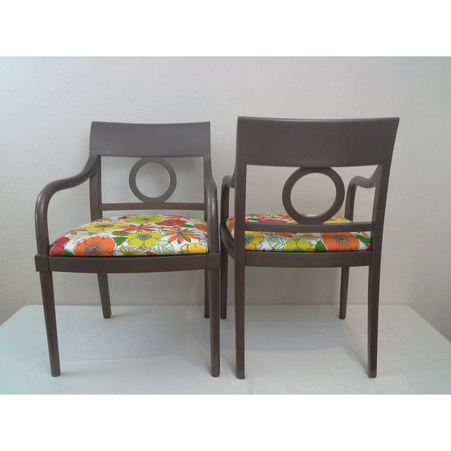 Edward Axel Roffman Floral Chairs - A Pair - Image 4 of 5