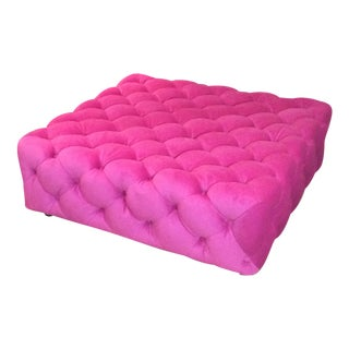 Custom Tufted Square Ottoman 43""