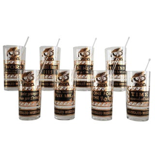 """Muddled Wisdom"" Tumblers - Set of 8"