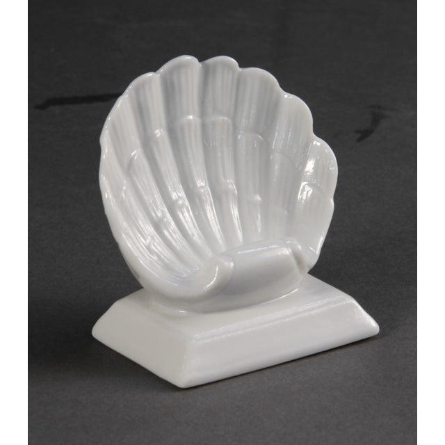 Image of Shell Porcelain Place Card Holders - Set of 6