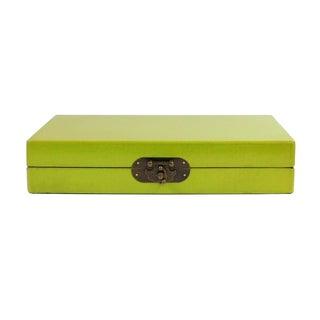 Chinese Lime Green Rectangular Box