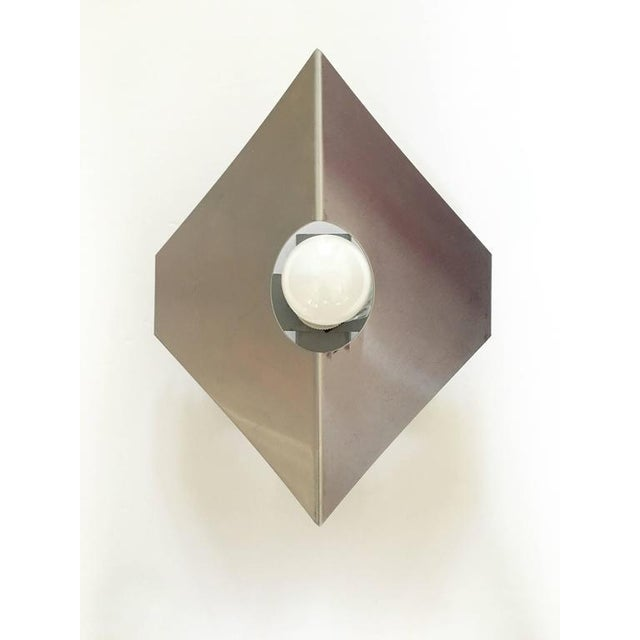 Image of Metal Sconces in the Style of Max Sauze - A Pair