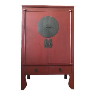 Red Chinese Wedding Armoire
