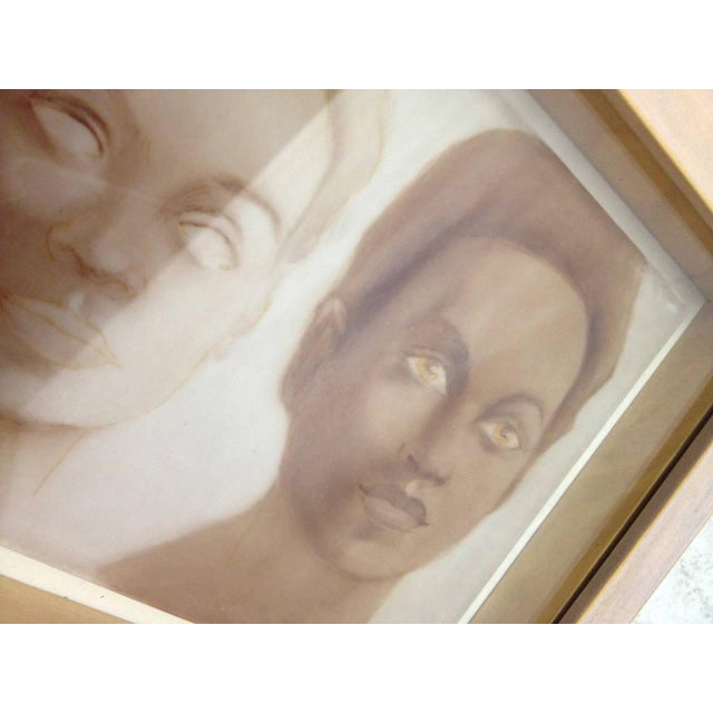 Image of Tile Portraits Signed Vivy - Set of Three