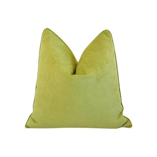 Custom Tailored Apple Green Velvet Feather/Down Pillow