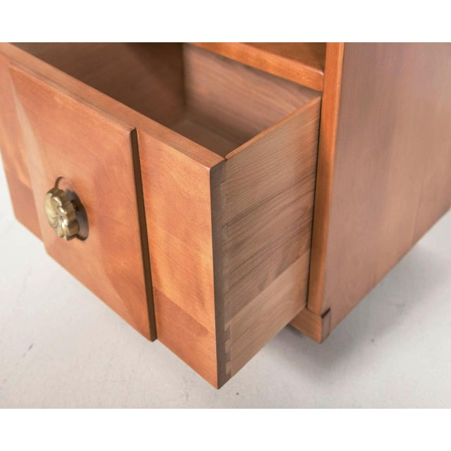 Maple Wood Nightstands - a Pair - Image 8 of 9