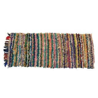 Vintage Boucherouite Rag Rug - 2′8″ × 6′