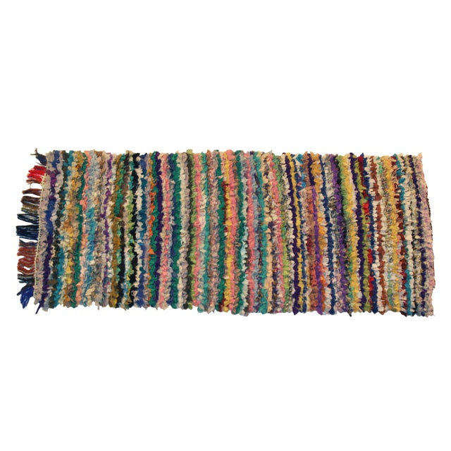 Vintage Boucherouite Rag Rug - 2′8″ × 6′ - Image 1 of 3