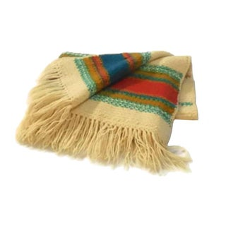 Vintage Crocheted Wool Blanket