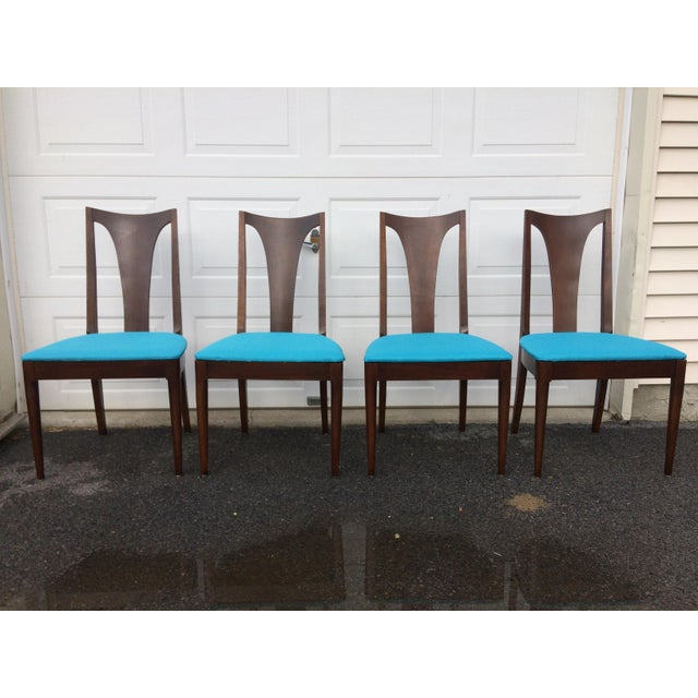 Broyhill Restored Walnut Chairs - Set of 4 - Image 2 of 8
