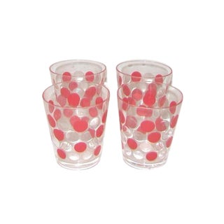 Acrylic Red Polka Dots Rock Glasses - Set of 12