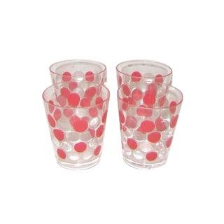 Acrylic Red Polka Dots Rock Glasses - Set of 12
