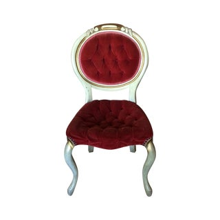Red Velvet Victorian Chair