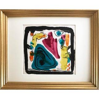 Harold Davies Abstract Watercolor Painting