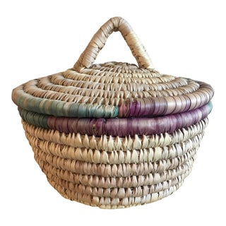 Colorful Handmade Bohemian Basket