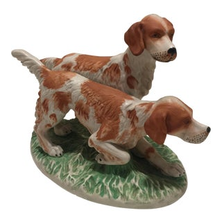 Staffordshire Style Ceramic Setter Dog Figurine