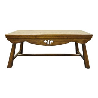 Old Hickory Furniture Co. Arts & Crafts Oak Bench Coffee Table