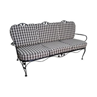 Woodard Vintage Black Iron Patio Sofa