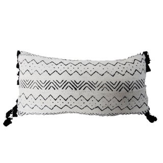 African Custom Made Lumbar Mud Cloth Pillow