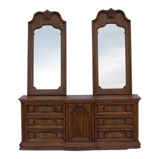Thomasville Mediterranean Style Double Mirrored Dresser