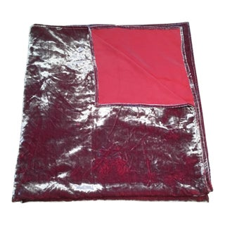 Velvet Red & Silver Throw