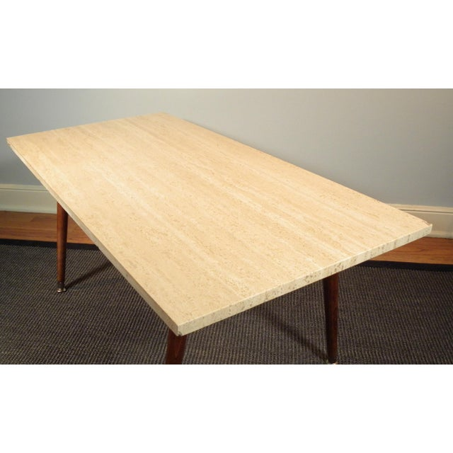 Vintage Mid Century Marble Limestone Coffee Table Image 3 Of 8
