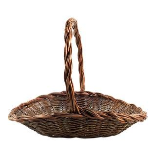 Circa 1950's Reed Garden Basket