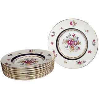Antique Booths Floral Porcelain Bowls - Set of 8