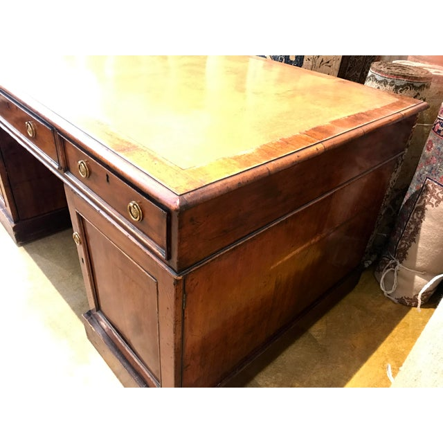 Gorgeous Antique Authentic Late 18th Century English Partners Desk - Image 4 of 5