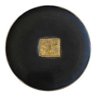 Signed Matte Black Bee Plate