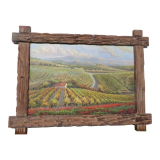 "B. Paske ""The Vineyard"" Oil Painting"