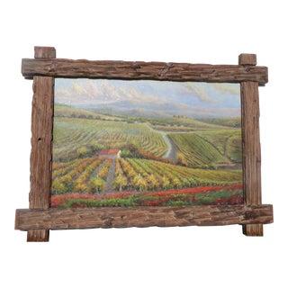 "B. Paske ""The Vineyard"" Oil Painting"