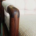 Image of Mid-Century Modern Salmon Upholstered Armchair