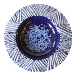 Nittsjo Sweden Blue Ceramic Pottery Bowl