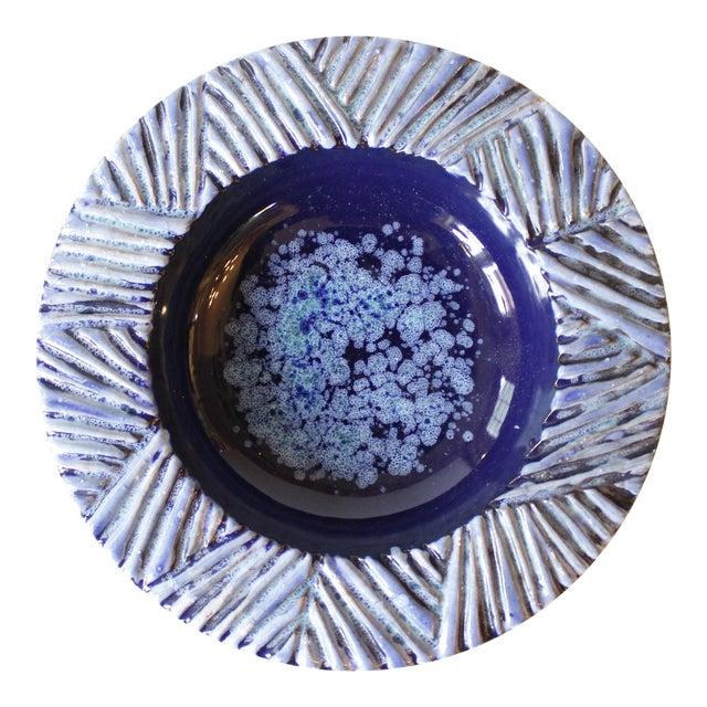 Nittsjo Sweden Blue Ceramic Pottery Bowl - Image 1 of 5