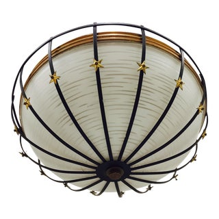 Mid-Century Modern Star Flush Mount Ceiling Light