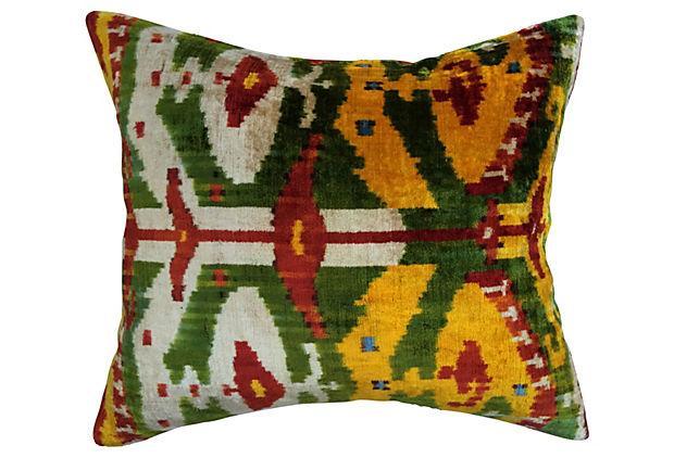Image of Bohemian Velvet Ikat Pillow