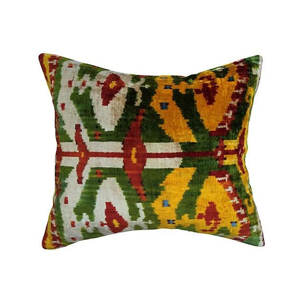 Image of Bohemian Velvet Ikat Pillow