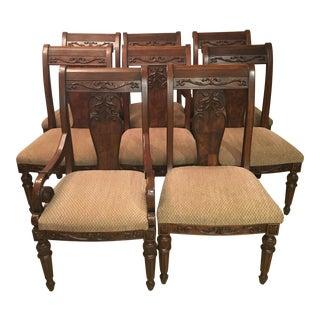 Broyhill Hepplewhite Dining Chairs - Set of 8