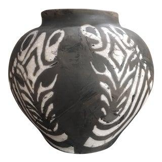 Studio Black & White Zebra Pottery Vase
