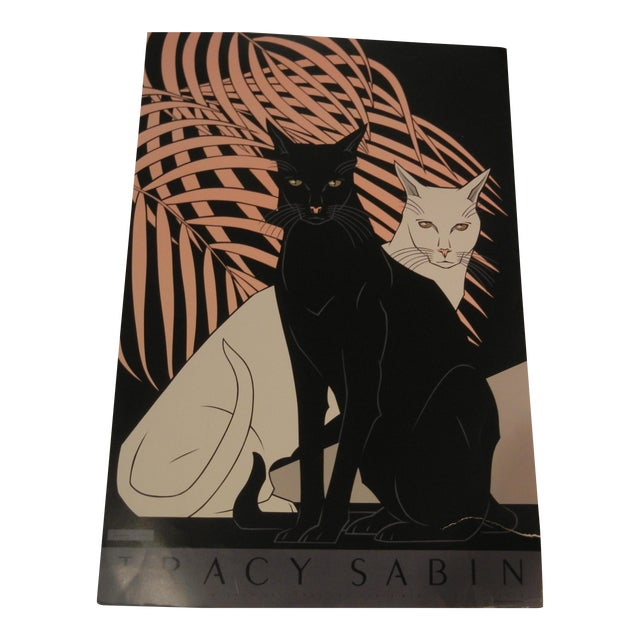 Image of Vintage Cats Lithograph by Tracy Sabin