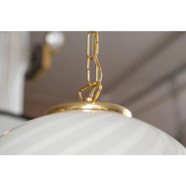 Murano Swirl Glass Dome Pendant Light - Image 5 of 9