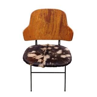 Kofod Larsen Penguin Chair W/ Goatskin Hide